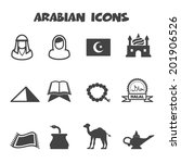 Arabian Icons  Mono Vector...