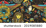 ancient egypt seamless pattern. ...   Shutterstock .eps vector #2019085880