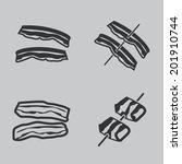 bacon icons | Shutterstock .eps vector #201910744
