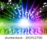 music colors background meaning ... | Shutterstock . vector #201912700