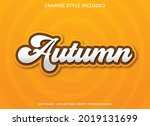 autumn text effect editable...   Shutterstock .eps vector #2019131699