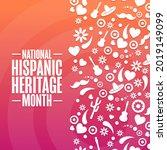 national hispanic heritage... | Shutterstock .eps vector #2019149099