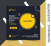 digital marketing social media... | Shutterstock .eps vector #2019154709
