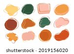 vector set of hand drawn color... | Shutterstock .eps vector #2019156020