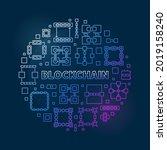 blockchain concept vector... | Shutterstock .eps vector #2019158240