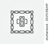 chains and blocks line icon  ... | Shutterstock .eps vector #2019158249