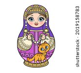 russian traditional nest doll... | Shutterstock .eps vector #2019158783