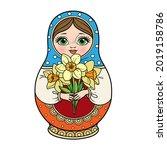 russian traditional nest doll... | Shutterstock .eps vector #2019158786