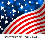 american flag banner meaning... | Shutterstock . vector #201916330