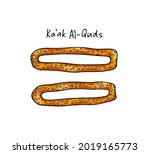 vector card with hand drawn... | Shutterstock .eps vector #2019165773