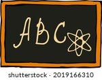 school board with abc letters... | Shutterstock .eps vector #2019166310