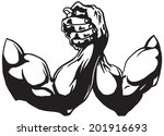 arm wrestling  | Shutterstock .eps vector #201916693