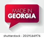 made in georgia text message... | Shutterstock .eps vector #2019166976