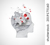 the human head is made in the... | Shutterstock .eps vector #2019175160