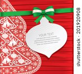 xmas card gift card beautiful... | Shutterstock .eps vector #201920908