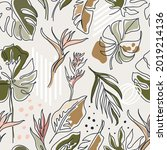 bohomian seamless pattern with... | Shutterstock .eps vector #2019214136