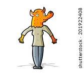 cartoon fox woman | Shutterstock . vector #201922408