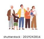 big family looking up. happy...   Shutterstock .eps vector #2019242816