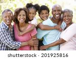 multi generation  family in park   Shutterstock . vector #201925816