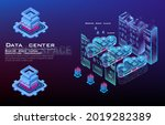 server room and cloud computing ... | Shutterstock .eps vector #2019282389