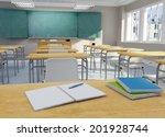 3d rendering of a school... | Shutterstock . vector #201928744
