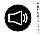 speaker round icon. glyph icon...