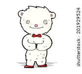 cartoon little polar bear | Shutterstock . vector #201929524