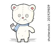 cartoon polar bear waving | Shutterstock . vector #201929839