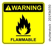 flammable sign | Shutterstock .eps vector #201936550