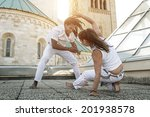 young pair capoeira partners... | Shutterstock . vector #201938578