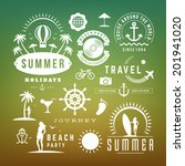 retro design elements summer...   Shutterstock .eps vector #201941020