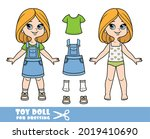 cartoon girl with bob hairstyle ... | Shutterstock .eps vector #2019410690