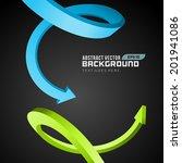 3d arrows abstract business... | Shutterstock .eps vector #201941086