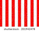 Curtain With Red And White...
