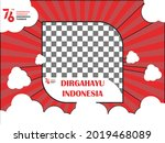 twibbon template for the 76th... | Shutterstock .eps vector #2019468089
