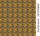 traditional flora batik pattern | Shutterstock .eps vector #201950800