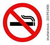 no smoking sign. prohibited... | Shutterstock .eps vector #201951400