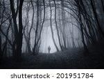 Man Walking On A Dark Path...
