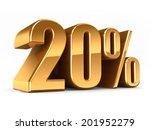 3d render of a gold 20 percent | Shutterstock . vector #201952279