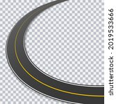 curved asphalt road with...   Shutterstock .eps vector #2019533666