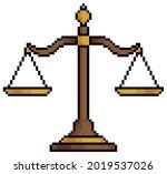 pixel art balance scales symbol ...   Shutterstock .eps vector #2019537026