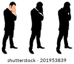 worried businessman  vector  | Shutterstock .eps vector #201953839