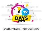 nineteen days left icon. offer... | Shutterstock .eps vector #2019538829