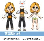 cartoon girl with bob hairstyle ... | Shutterstock .eps vector #2019558059