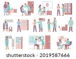 otolaryngologist ent throat... | Shutterstock .eps vector #2019587666