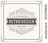 vintage design template. retro... | Shutterstock .eps vector #201959830