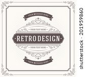 vintage design template. retro... | Shutterstock .eps vector #201959860