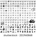 icons set cleaning. vector... | Shutterstock .eps vector #201960868