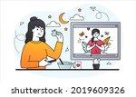 pre dawn meal concept. sahur or ... | Shutterstock .eps vector #2019609326