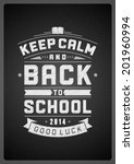 back to school design... | Shutterstock .eps vector #201960994